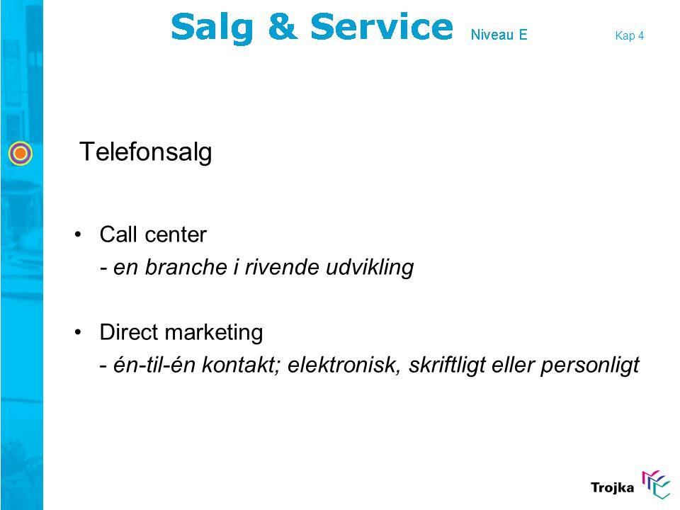 Telefonsalg Call center - en branche i rivende udvikling
