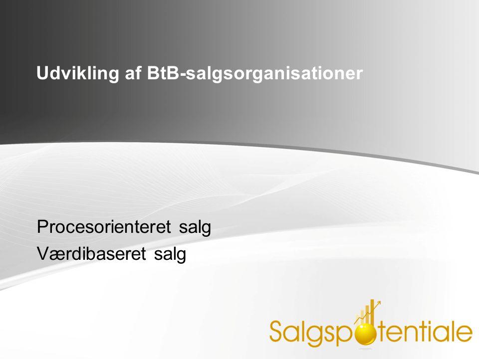 Udvikling af BtB-salgsorganisationer