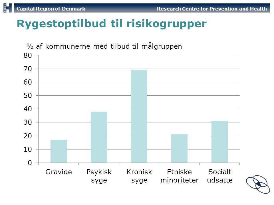 Rygestoptilbud til risikogrupper