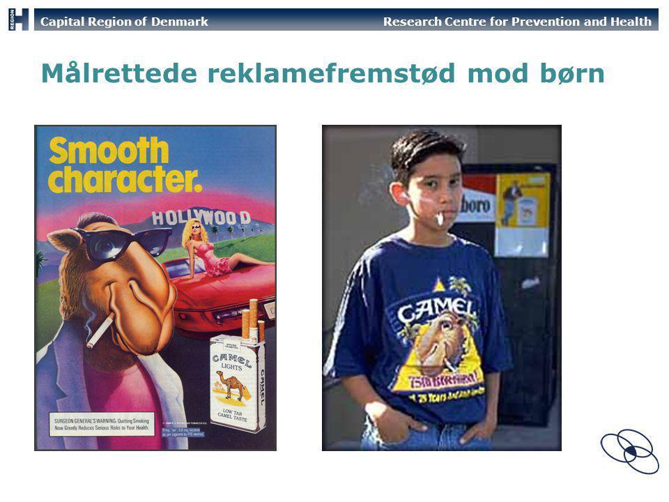 Målrettede reklamefremstød mod børn
