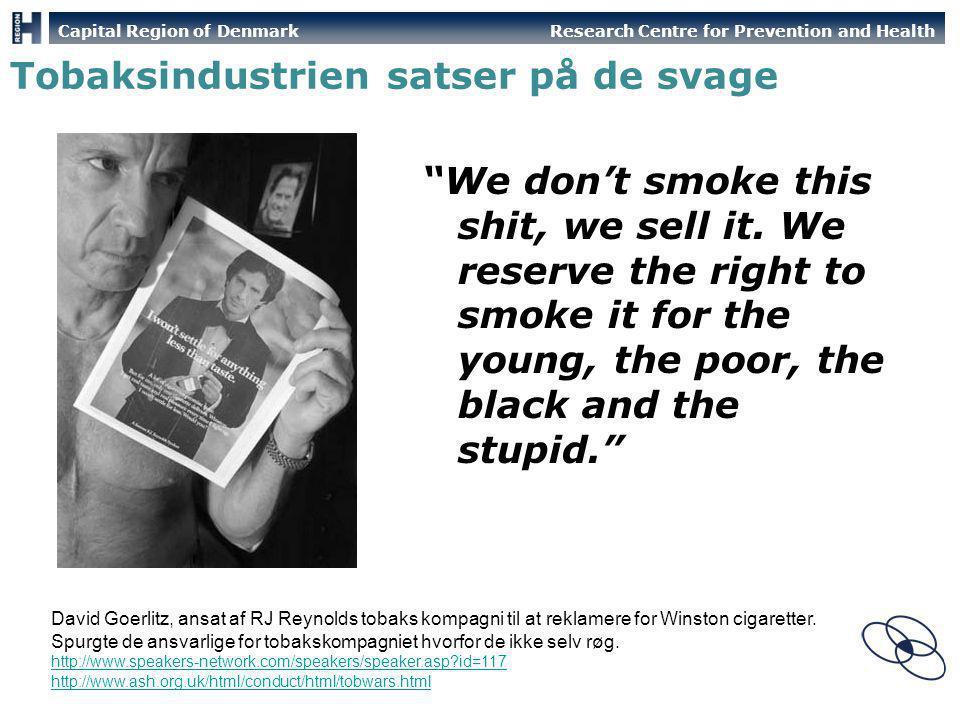 Tobaksindustrien satser på de svage