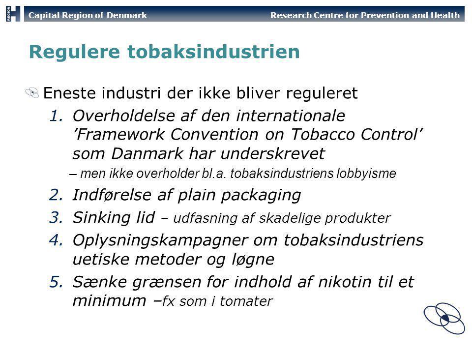 Regulere tobaksindustrien