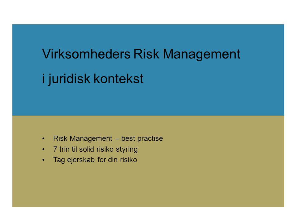 Virksomheders Risk Management i juridisk kontekst