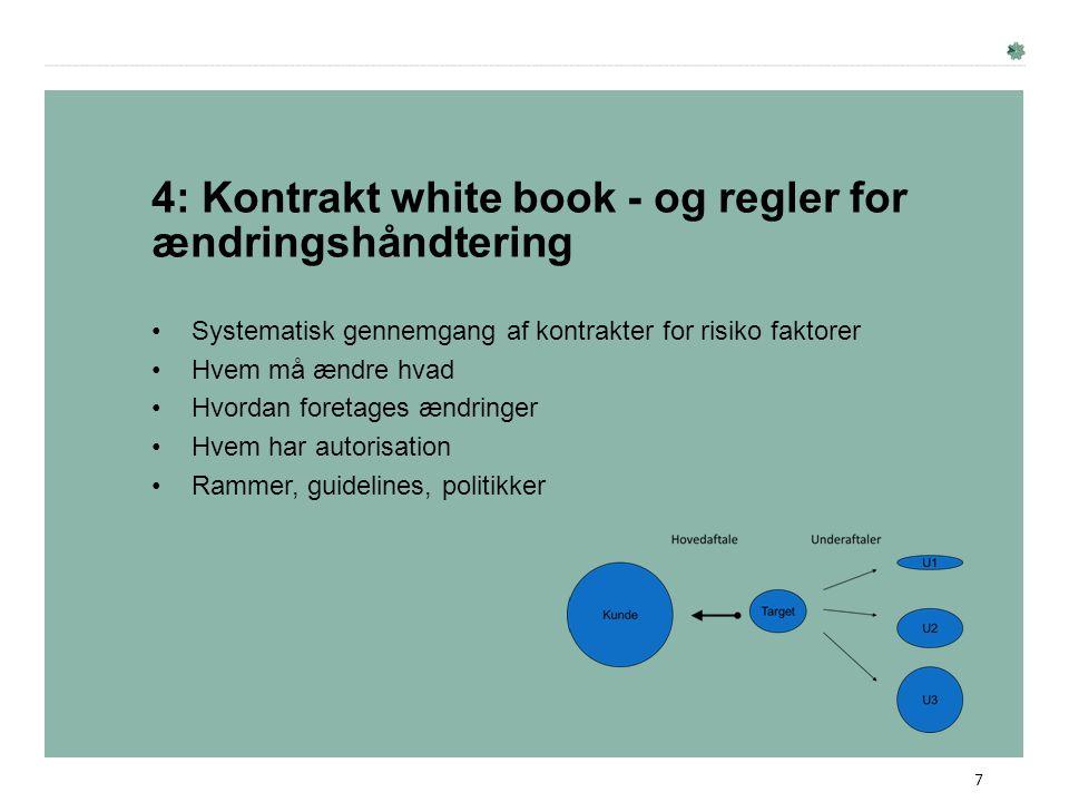 4: Kontrakt white book - og regler for ændringshåndtering