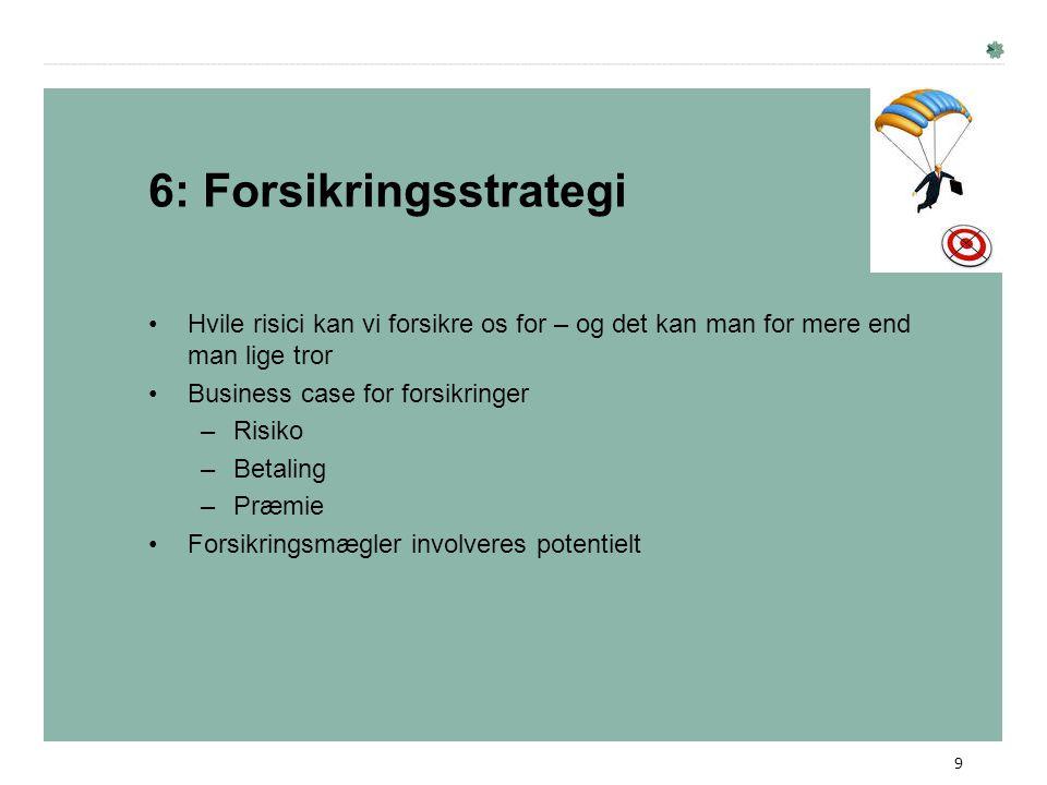 6: Forsikringsstrategi