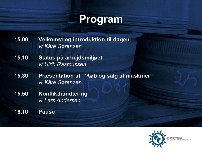 Program 15.00 Velkomst og introduktion til dagen v/ Kåre Sørensen