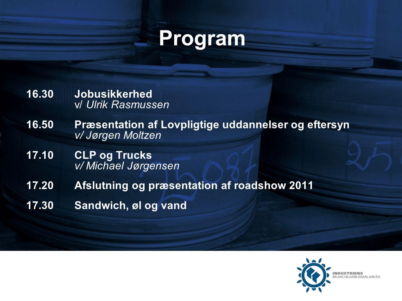 Program 16.30 Jobusikkerhed v/ Ulrik Rasmussen