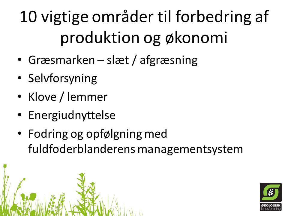 10 vigtige områder til forbedring af produktion og økonomi