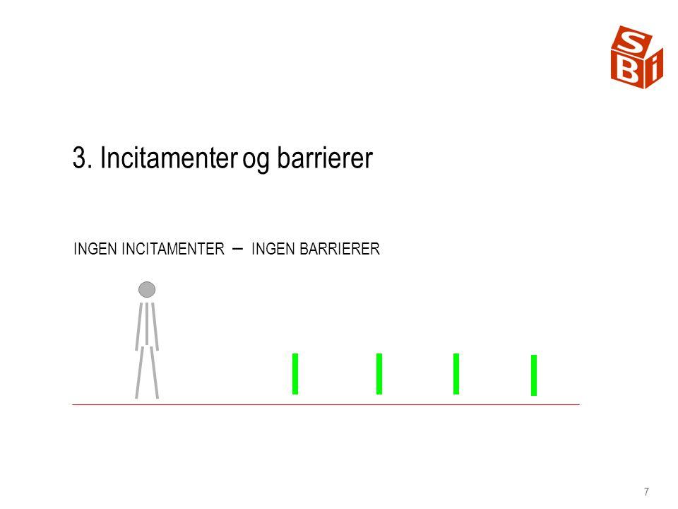 3. Incitamenter og barrierer