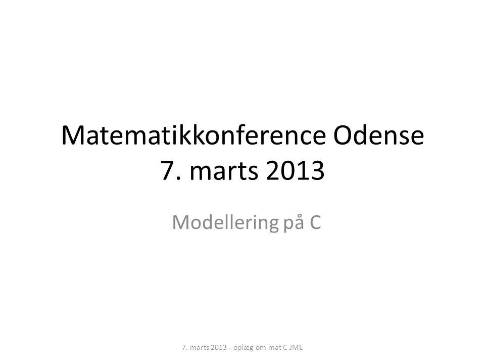 Matematikkonference Odense 7. marts 2013