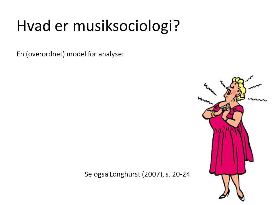 Hvad er musiksociologi