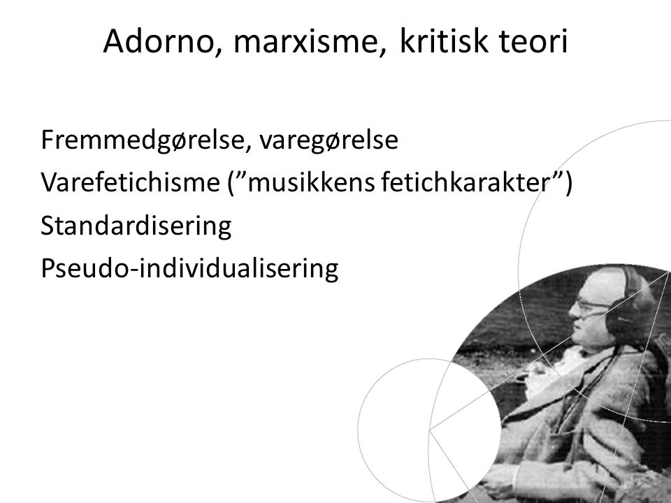 Adorno, marxisme, kritisk teori