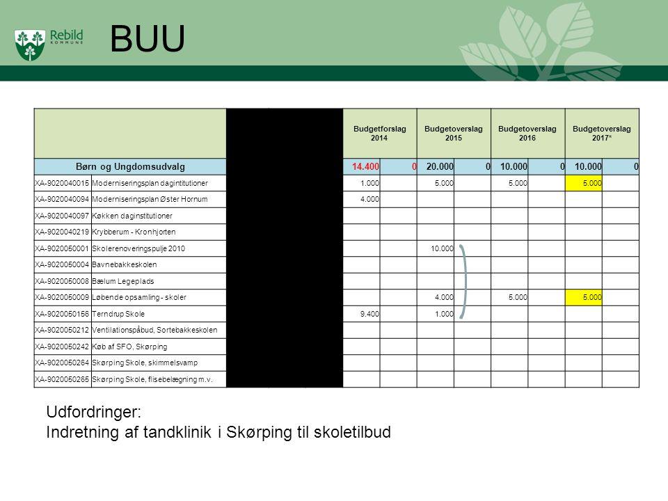 BUU Udfordringer: Indretning af tandklinik i Skørping til skoletilbud