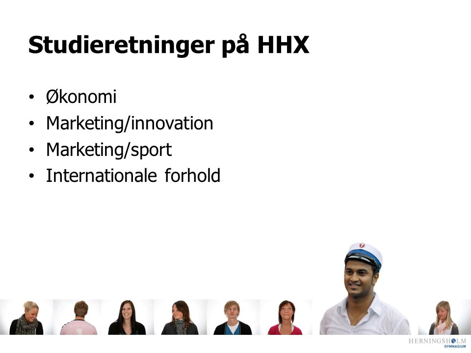 Studieretninger på HHX