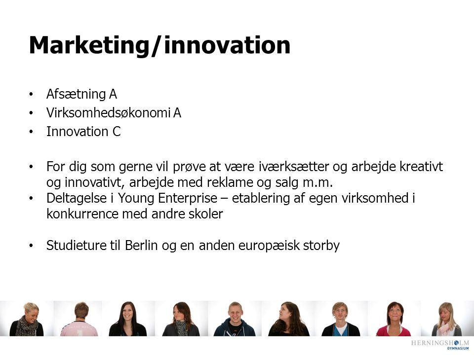 Marketing/innovation