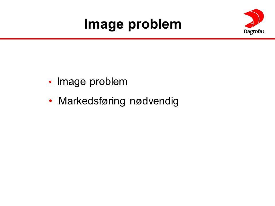 Image problem Image problem Markedsføring nødvendig