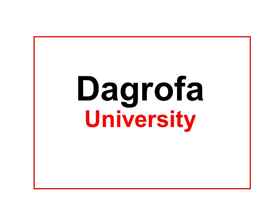 Dagrofa University