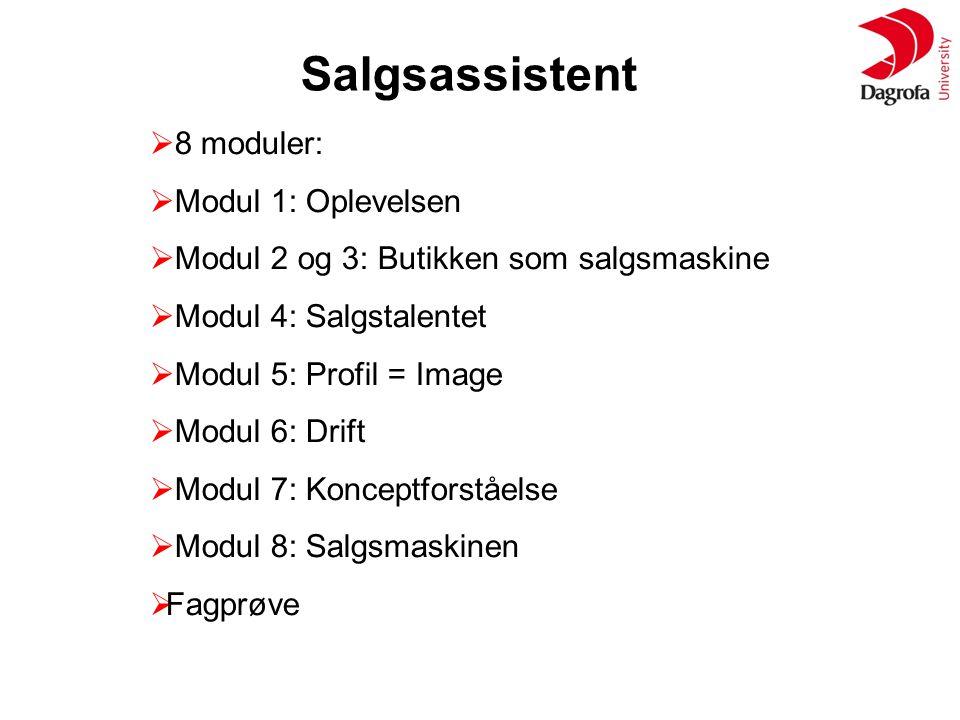 Salgsassistent 8 moduler: Modul 1: Oplevelsen