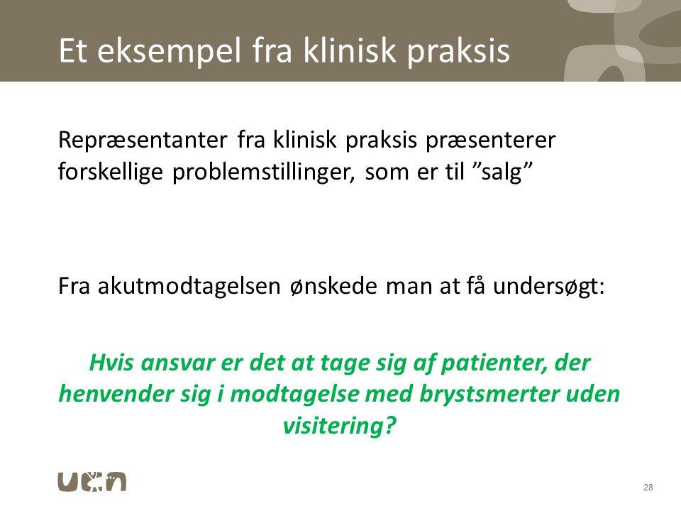 Et eksempel fra klinisk praksis