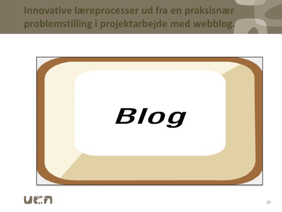 03-04-2017 Innovative læreprocesser ud fra en praksisnær problemstilling i projektarbejde med webblog.