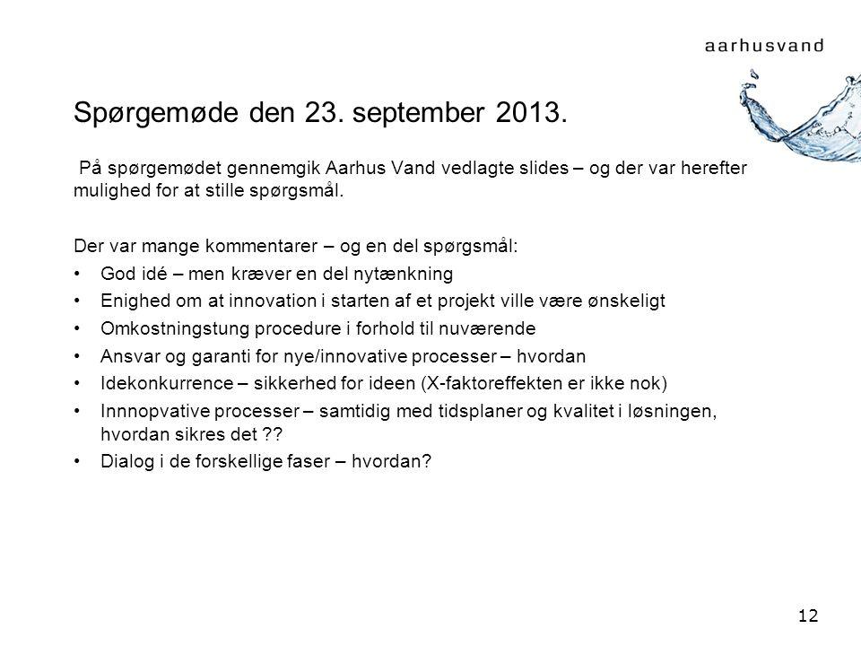 Spørgemøde den 23. september 2013.