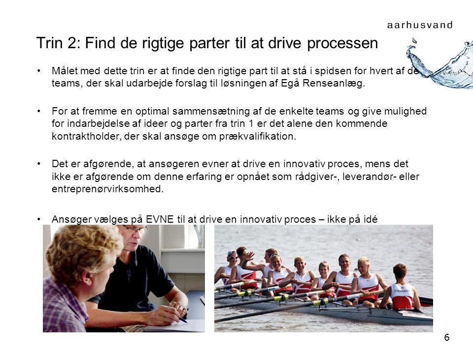 Trin 2: Find de rigtige parter til at drive processen