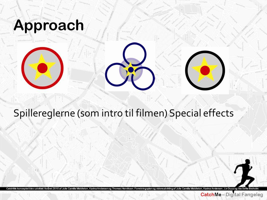 Approach Spillereglerne (som intro til filmen) Special effects