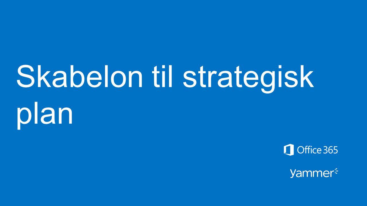Skabelon til strategisk plan