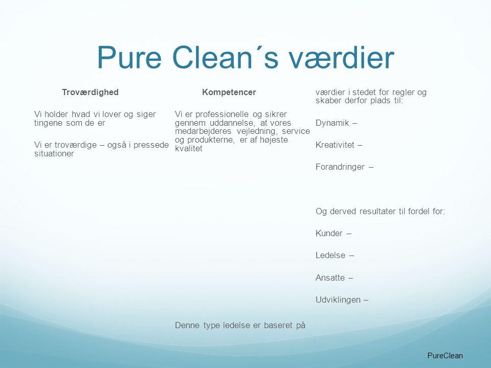 Pure Clean´s værdier