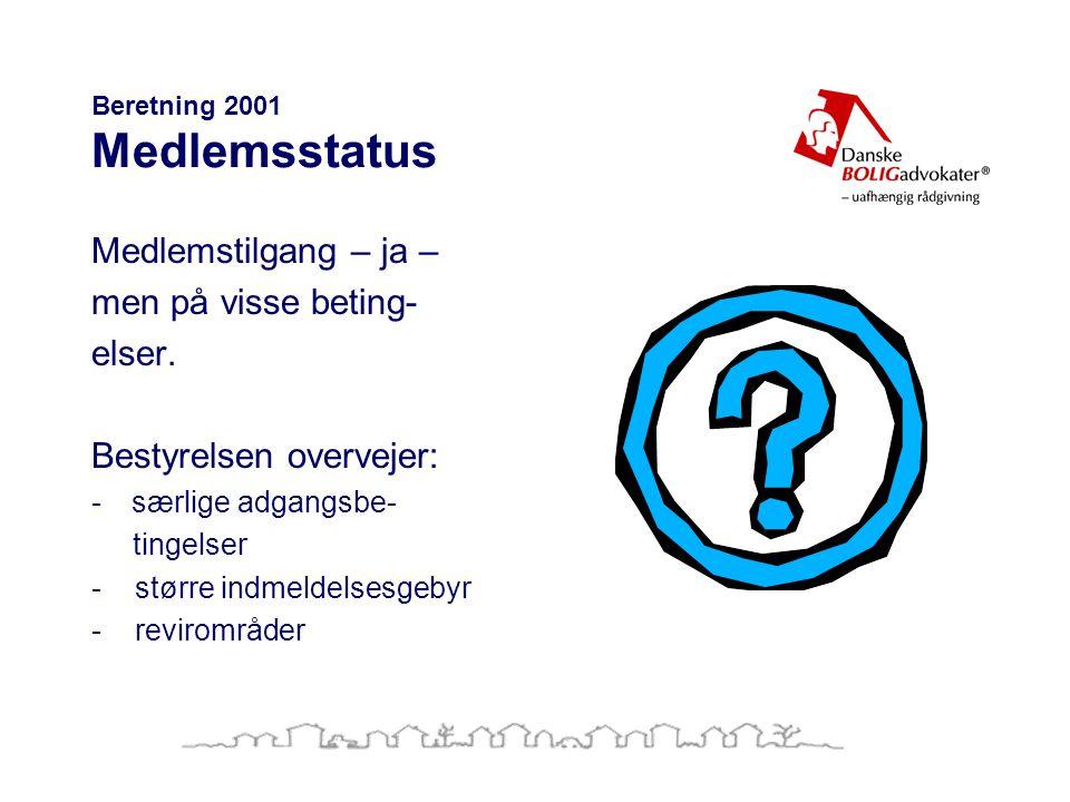 Beretning 2001 Medlemsstatus