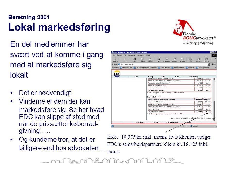 Beretning 2001 Lokal markedsføring