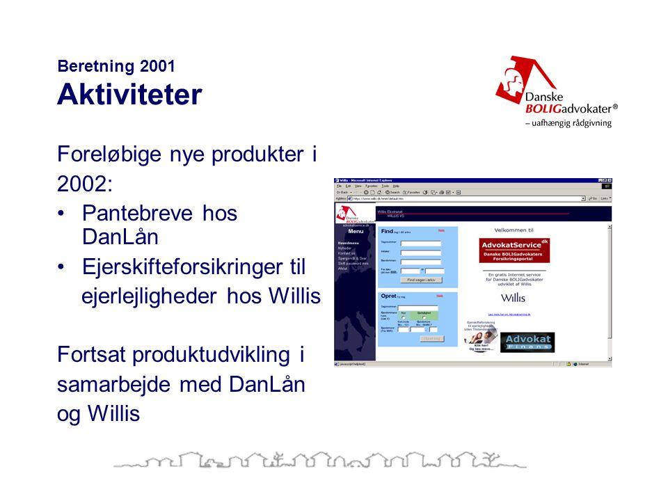 Beretning 2001 Aktiviteter