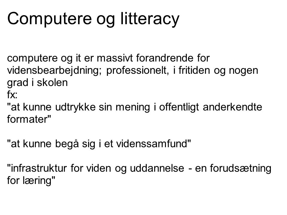 Computere og litteracy