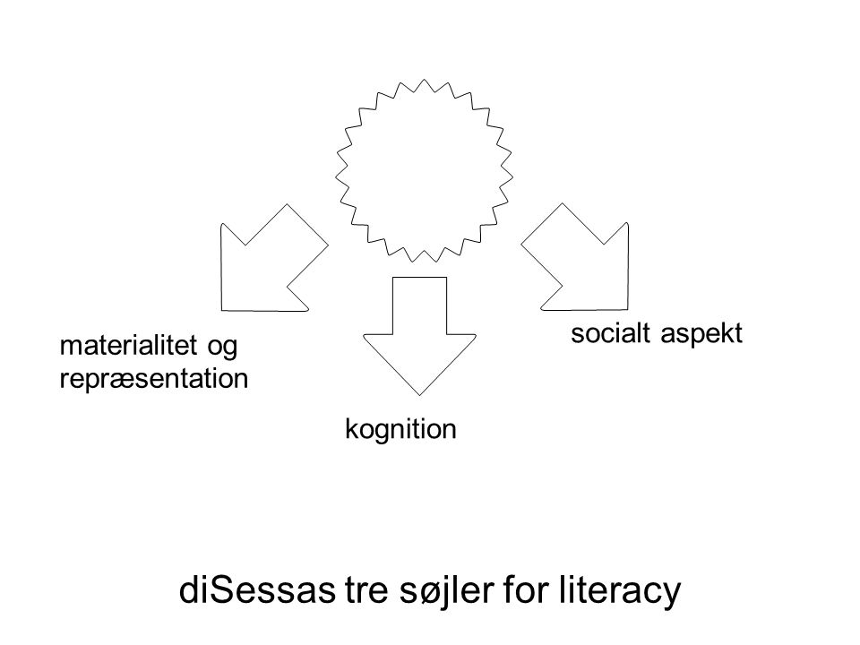diSessas tre søjler for literacy