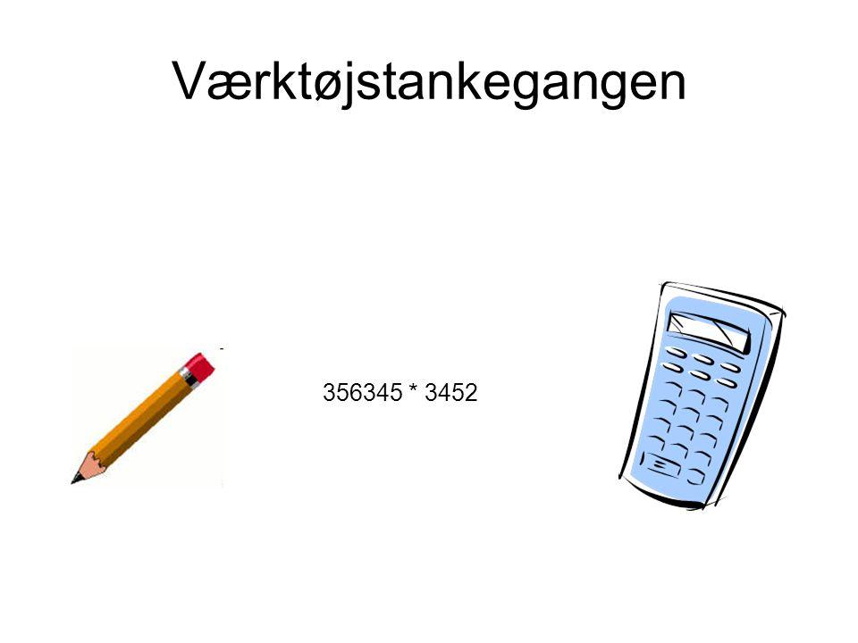 Værktøjstankegangen 356345 * 3452 Værktøjet betyder noget