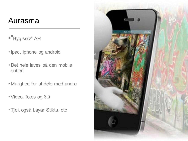 Aurasma Byg selv AR Ipad, iphone og android