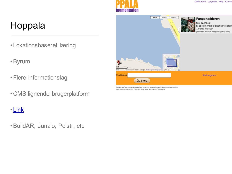 Hoppala Lokationsbaseret læring Byrum Flere informationslag