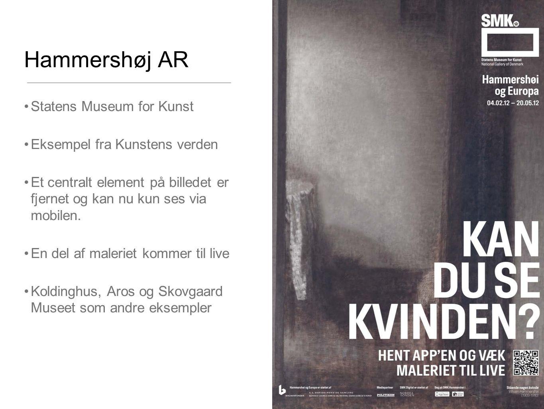 Hammershøj AR Statens Museum for Kunst Eksempel fra Kunstens verden