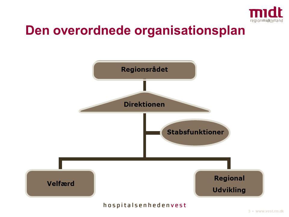 Den overordnede organisationsplan