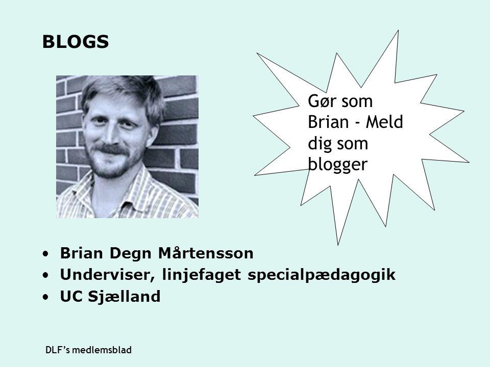 Gør som Brian - Meld dig som blogger