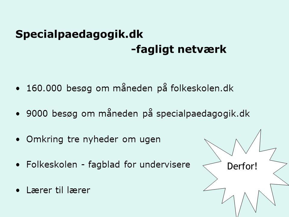 Specialpaedagogik.dk -fagligt netværk Derfor!