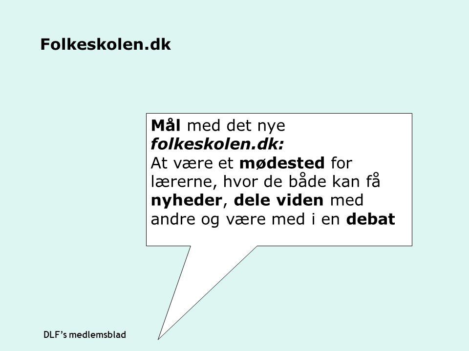 Mål med det nye folkeskolen.dk: