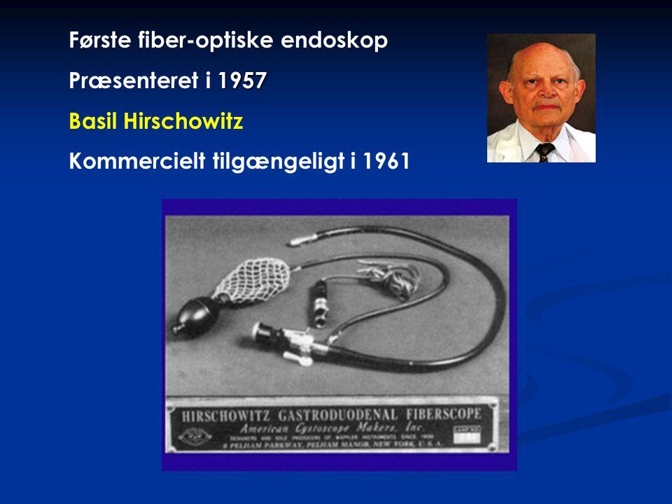 Første fiber-optiske endoskop