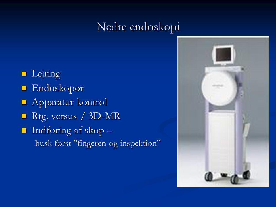 Nedre endoskopi Lejring Endoskopør Apparatur kontrol