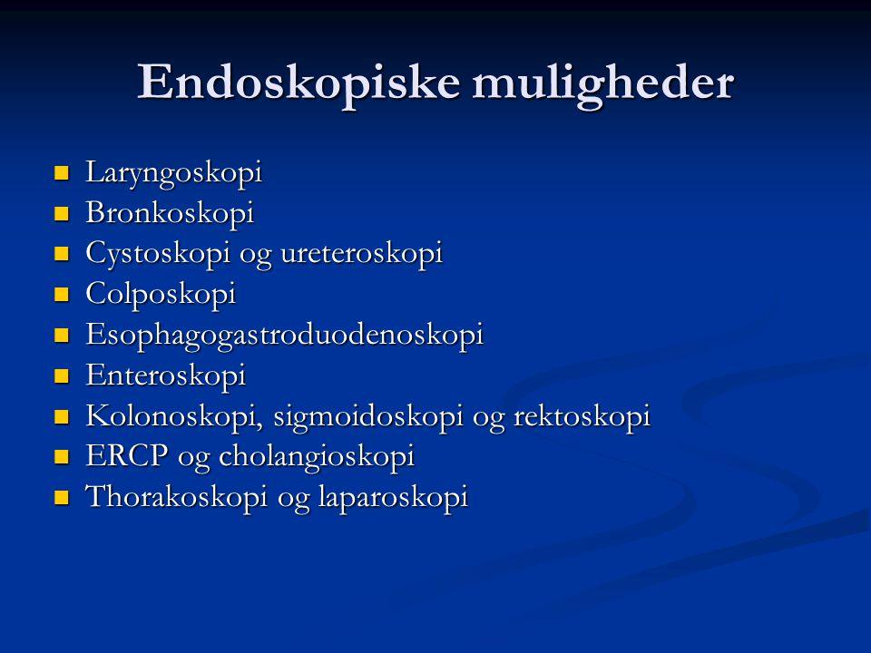 Endoskopiske muligheder