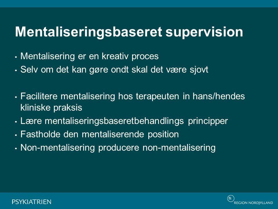 Mentaliseringsbaseret supervision