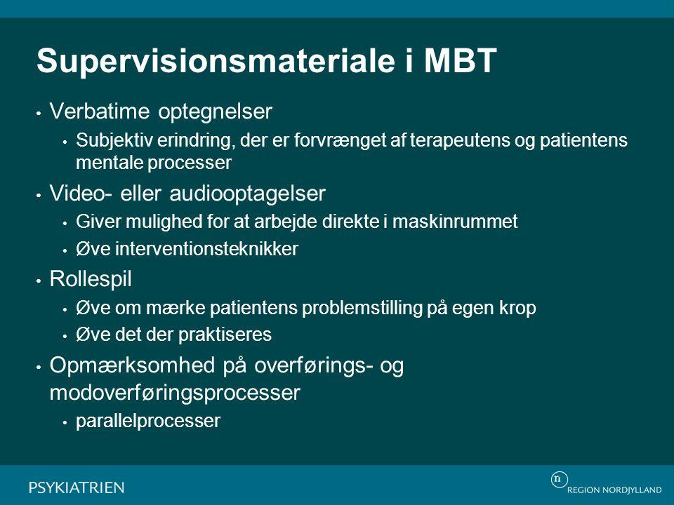 Supervisionsmateriale i MBT