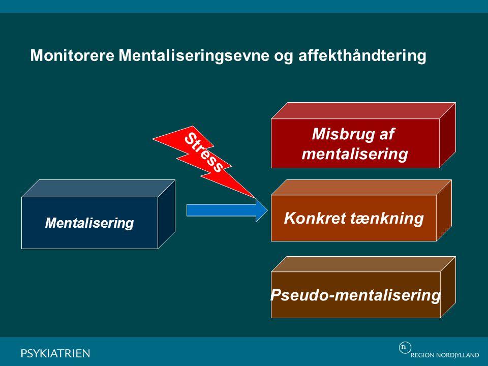 Monitorere Mentaliseringsevne og affekthåndtering