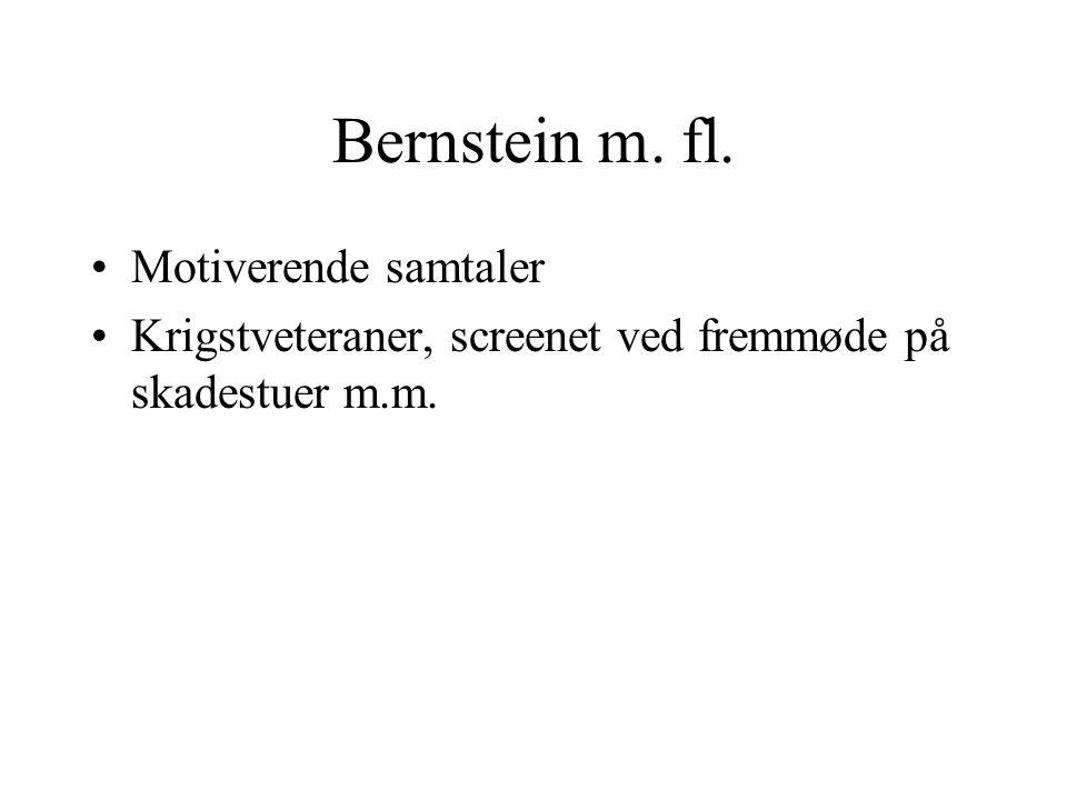 Bernstein m. fl. Motiverende samtaler