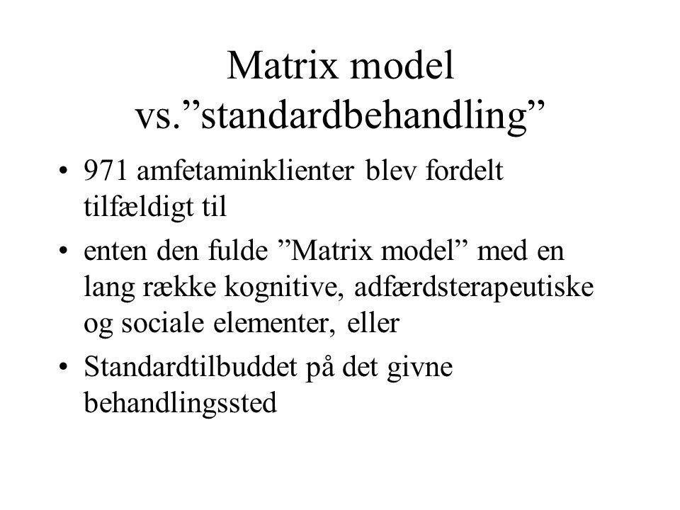 Matrix model vs. standardbehandling